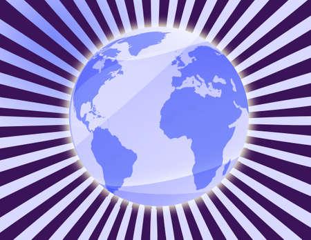 generated world illustration background Stock Illustration - 3391450