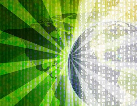 Computer generated globe illustration background Stock Illustration - 3391015
