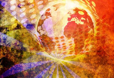 techical:  generated globe illustration background