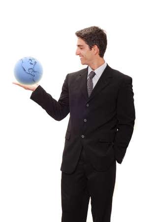 Successful businessman in black suit photo