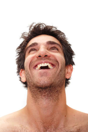 Man with happy facial expression Stock Photo - 3391017