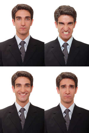 Four different facial expressions Imagens