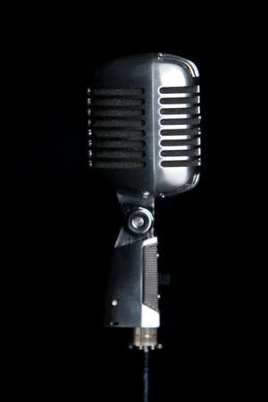 Old fashioned microphone photo