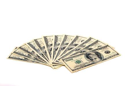 Hundred dollar bills on white background Zdjęcie Seryjne