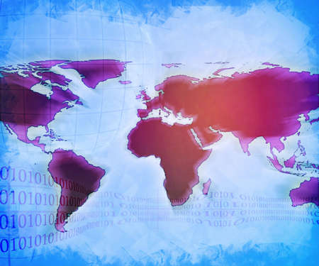 techical: abstract technology background of the world map Stock Photo