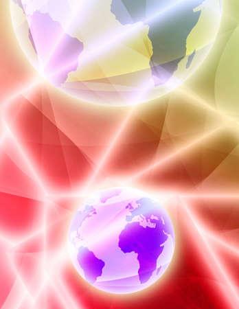 Globe illustration technical background for Stock Illustration - 3400244