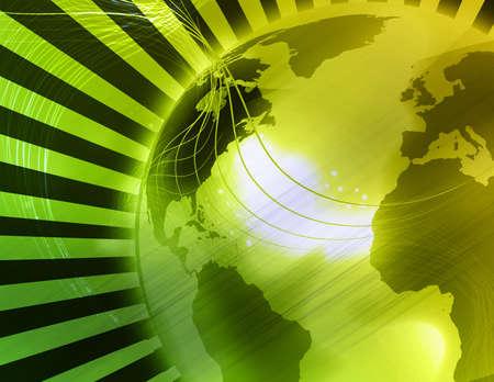 techical: Computer generated globe illustration background Stock Photo