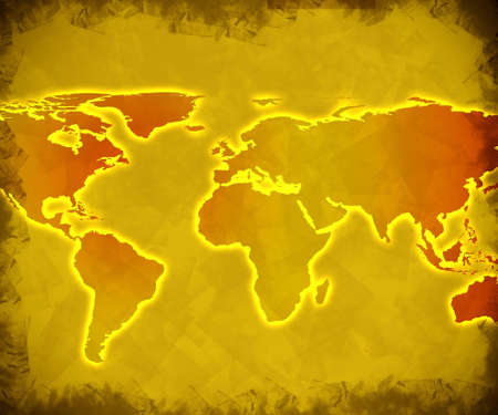 abstract technology background of the world map Stock Photo - 3400265