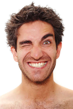 Man with happy facial expression Stock Photo - 3401479