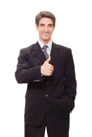 Young successful businessman in suit Stock Photo - 3401079
