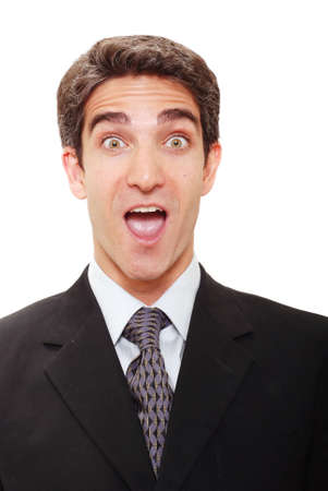 Businessman with a surprised expression photo