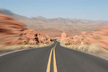 Road into the Valley of Fire photo