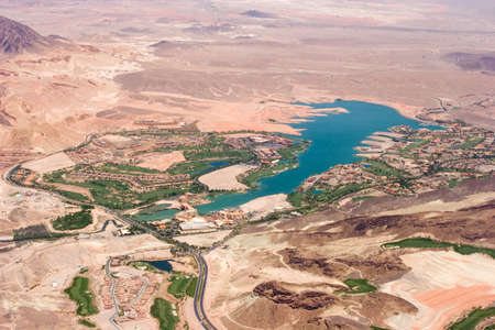 Aerial view of Lake Las Vegas photo