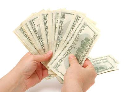 Bunch of hundred dollar bills photo