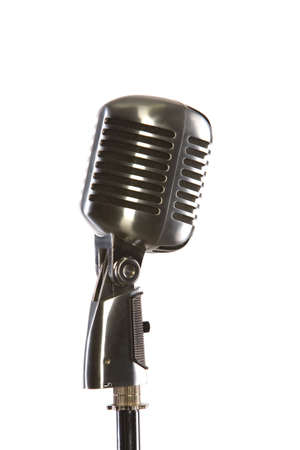 Old fashion retro microphone for singing photo