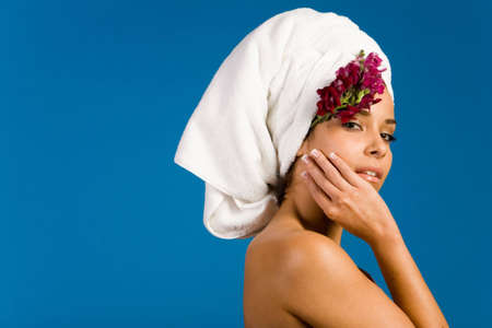 rejuvenating: Beautiful woman in day spa