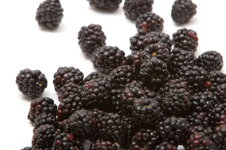 Seasonal organic blackberries for diet
