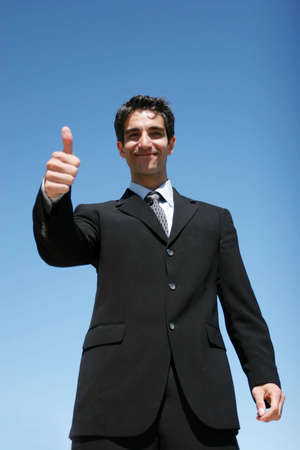 Successful businessman showing confidence photo
