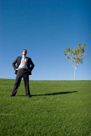 Businessman in dark suit Stock Photo - 3407278