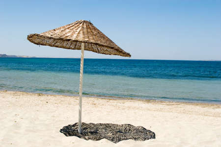 An umbreally to protect from sun on the beach