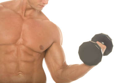 muscular body: Champion body builder working out Stock Photo