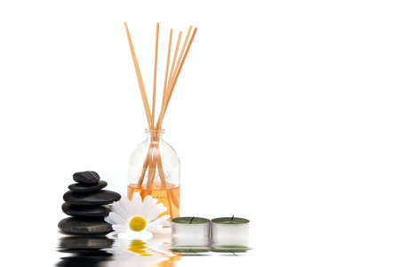 Spa objects isolated on white background photo
