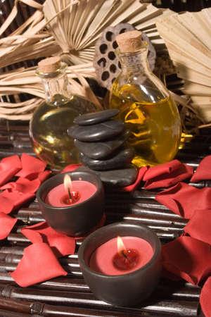 revitalize: Essential body  oils in bottles