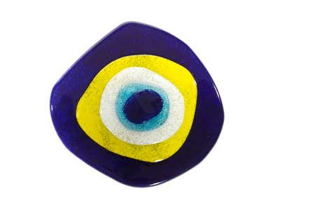 Evil eye on white background Banco de Imagens