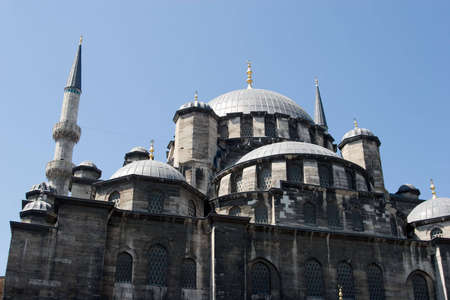 eminonu: Famous Eminonu Mosque in Istanbul Stock Photo