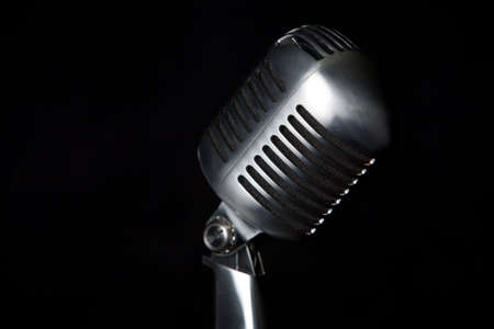 Old  retro microphone for singing Stock Photo - 3541626