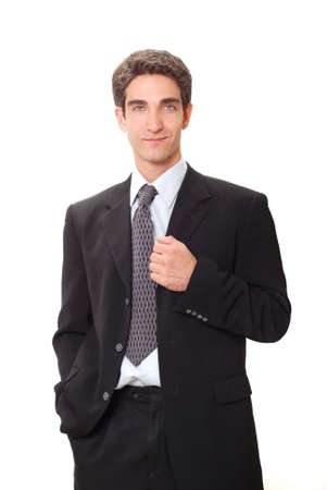 Young businessman in dark suit Stock Photo - 3562736
