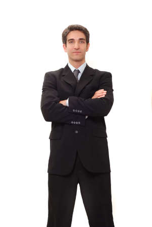 Young businessman in dark suit Stock Photo - 3562456