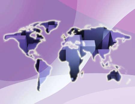 Computer generated world illustration background Stock Illustration - 3568540