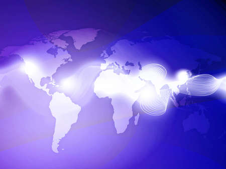abstract technology background of the world map Stock Photo - 3568596