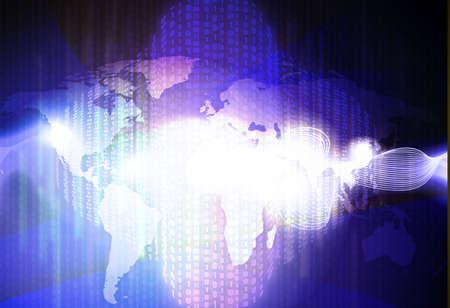 techical: astratto tecnologia sfondo della mappa del mondo