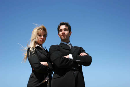 Young successful businessman and businesswoman Stock Photo - 3569069