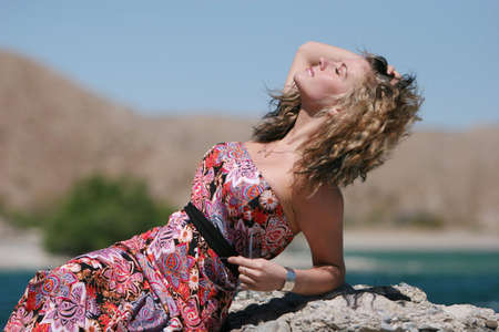 Beautiful young fashionable girl outdoors
