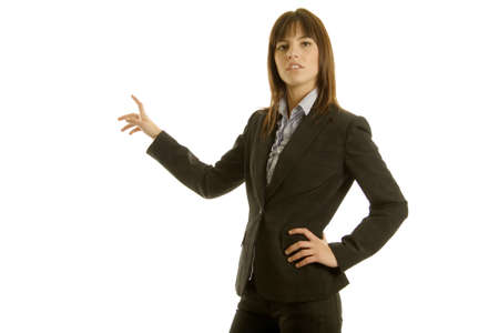 Young businesswoman in dark suit Stock Photo - 3569076