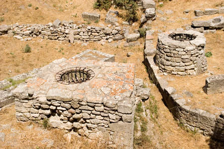 troy: Ruins at ancient city of Troy