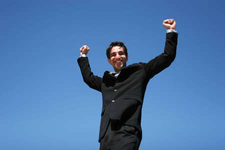Successful businessman showing confidence Stock Photo - 3568481