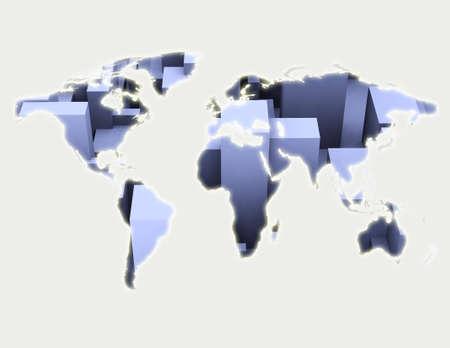 Computer generated world illustration background Stock Illustration - 3661650