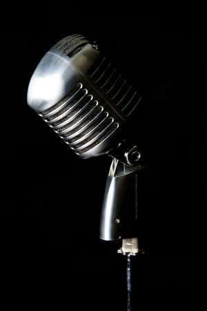 Old fashion retro microphone for singing Stock Photo