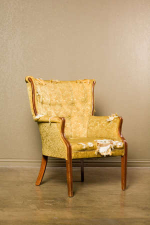 antique chair: Antique chair in need of upholstery