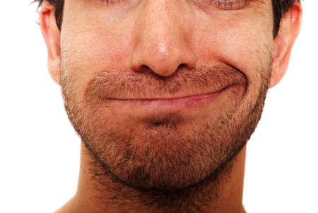 sarc�stico: Hombre con sarc�stica expresi�n facial