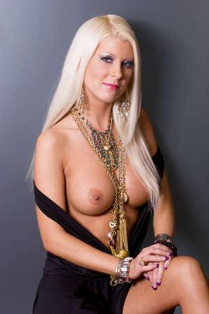 Sexy pretty woman posing topless Stock Photo - 3820493