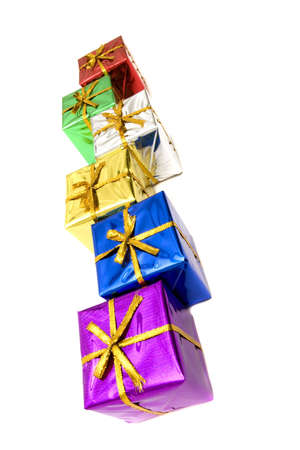 Beautiful colorful Christmas gift boxes Stock Photo - 3867621