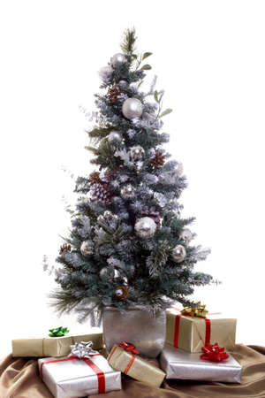 silver ribbon: Presents under the Christmas tree