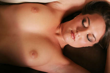 sexy breast: Sexy pretty woman posing topless