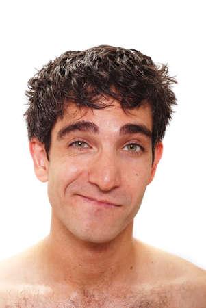 facial expression: Man with a facial expression