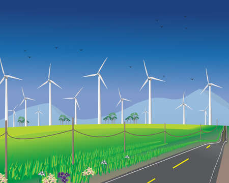 Wind turbines for alternative energy photo